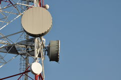 Башня радиосвязи с антеннами Стоковые Фото