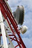 Башня радиосвязи с антенной сотового телефона Стоковые Изображения