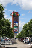 Башня рекламы в центре торговлей IKEA в городе Khimki Стоковое Фото