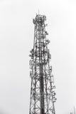 башня репитера мобильного телефона связи антенны Стоковое фото RF