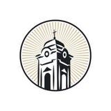 Башня римско-католической церков иллюстрация штока
