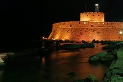 Башня Родоса St Nicholas, Греции Стоковые Фото