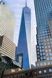 Башня свободы в Манхаттане, Нью-Йорке США Стоковые Изображения RF
