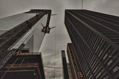 Башня свободы и всемирный торговый центр стоковые фотографии rf