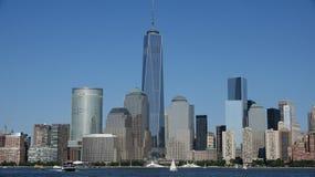 Башня свободы понижает Манхаттан Стоковая Фотография RF
