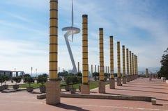 башня связей barcelona montjuic Стоковое фото RF