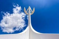 Башня связей Montjuic, Барселона, Испания Стоковые Изображения RF