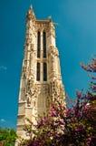 башня святой jacques paris церков Стоковые Изображения RF