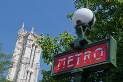 башня святой paris метро Франции jacques Стоковое фото RF