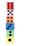 Башня сделанная плашек Стоковые Изображения RF