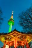 Башня Сеула Стоковые Изображения