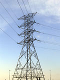 башня силы кабеля стоковые фото