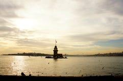 Башня сиротливой девушки Стоковые Фотографии RF