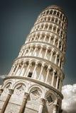 Башня склонности стиля Пизы винтажного, Тоскана Италия стоковое фото