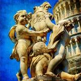 башня скульптуры piza Стоковое Изображение