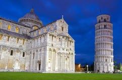 Башня склонности, Пиза, Италия стоковые фотографии rf