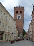 Башня склонности Zabkowice Slaskie Стоковое фото RF