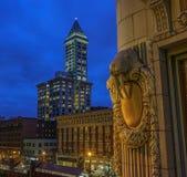 Башня Смита, Сиэтл, Wa США стоковые фотографии rf
