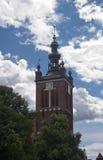 Башня собора Гданьска стоковая фотография