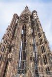 Башня собора страсбурга (Нотр-Дам), Франции Стоковое фото RF
