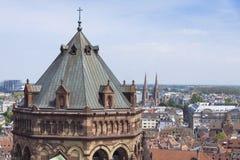 Башня собора страсбурга (Нотр-Дам), Франции Стоковое Изображение RF