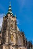 Башня собора St Vitus в Hradcany, Праге, чехии Стоковая Фотография RF