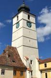 Башня совету в Сибиу, Румынии Стоковые Фотографии RF