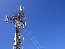 Башня сотового телефона Стоковое Изображение