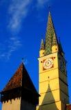 башня средств церков старая стоковая фотография