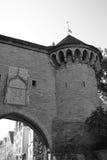 Башня стены городка в Таллине стоковые фотографии rf