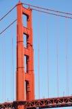 башня строба моста золотистая Стоковое Фото
