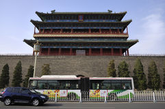 Башня строба Пекин Qianmen Стоковые Фото