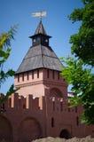 Башня строба Тулы Кремля - Pyatnitskikh Стоковая Фотография