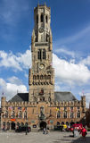 Башня с часами Бельгия колокольни Брюгге Стоковая Фотография