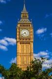 Башня с часами большого Бен в Лондоне, Великобритании стоковое изображение rf