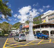 Башня с часами Виктории, Mahe, Сейшельские островы, редакционные Стоковые Изображения RF