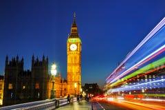Башня с часами в Лондоне Стоковые Фотографии RF