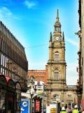 Башня с часами в Эдинбурге, Шотландии Стоковое Изображение