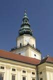Башня с часами в Kromeriz стоковая фотография rf