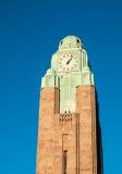 Башня с часами железнодорожного вокзала Стоковое Изображение