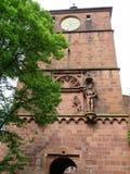 Башня с часами замка Гейдельберга Стоковое Изображение