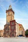 Башня с часами - здание муниципалитет в Праге, чехии Стоковые Изображения