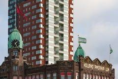 Башня с часами на гостинице Роттердаме Нью-Йорка Стоковое Изображение