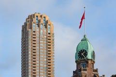 Башня с часами на гостинице Роттердаме Нью-Йорка Стоковые Фотографии RF