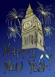 Башня с часами торжества Нового Года бесплатная иллюстрация