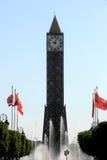 Башня с часами Туниса Стоковое Изображение RF