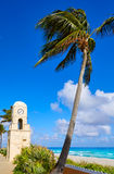 Башня с часами Флорида бульвара стоимости Palm Beach Стоковое Изображение RF