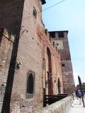 Башня с часами Castelvecchio, Верона - Италия Стоковое Изображение
