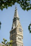 Башня с часами Healy Hall Стоковые Изображения RF