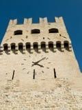 Башня с часами, MonteFalco, Умбрия Стоковое Изображение